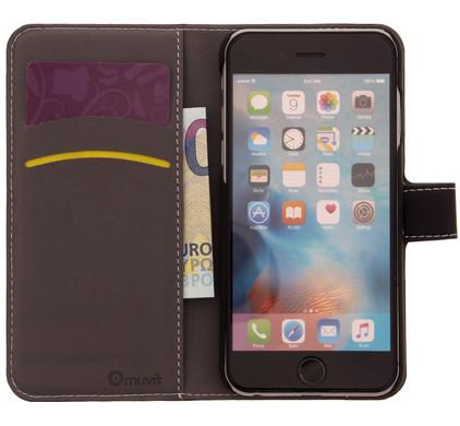 Muvit Wallet Apple iPhone 6/6s Book Case Zwart