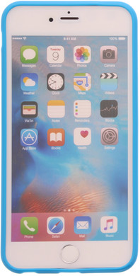 Muvit Frame Apple iPhone 6 Plus/6s Plus Back Cover Blauw