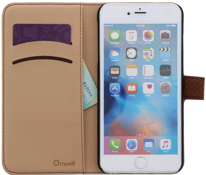 Muvit Wallet Apple iPhone 6 Plus/6s Plus Book Case Bruin