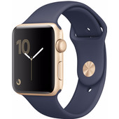 Apple Watch Series 2 42mm Goud Aluminium/Middernachtblauwe Sportband