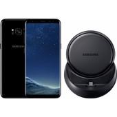 Samsung Galaxy S8 Zwart + Samsung DeX Docking Station