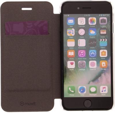 Muvit Folio Apple iPhone 7 Book Case Goud