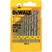 DeWalt 13-delige Metaalborenset HSS-G
