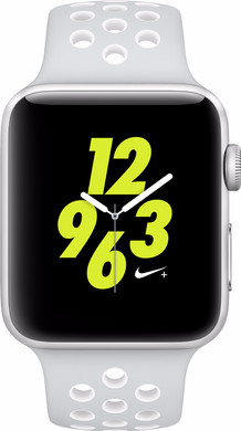 Apple Watch Nike+ 42mm Zilver Aluminium/Platinum Wit Sportband