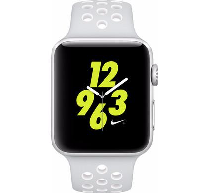 Apple Watch Nike+ 42mm Zilver Aluminium/Platinum Wit Sportband