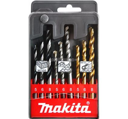 Makita 9-delige Borenset Hout/Steen/Metaal D-08660