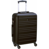 Delsey Carlit 4 Wheel Slim Cabin Size Trolley 55 cm Black