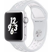 Apple Watch Nike+ 38mm Zilver Aluminium/Platinum Wit Sportband
