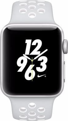 Apple Watch Nike+ 38mm Zilver Aluminium/Platinum Wit Sportband