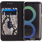Mobilize SE Premium Gelly Snake Samsung Galaxy S8 Book Case Zwart