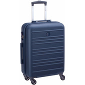 Delsey Carlit 4 Wheel Slim Cabin Size Trolley 55 cm Blue
