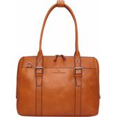 """Castelijn & Beerens Bravo Dames Laptoptas 15,6"""" Cognac"""