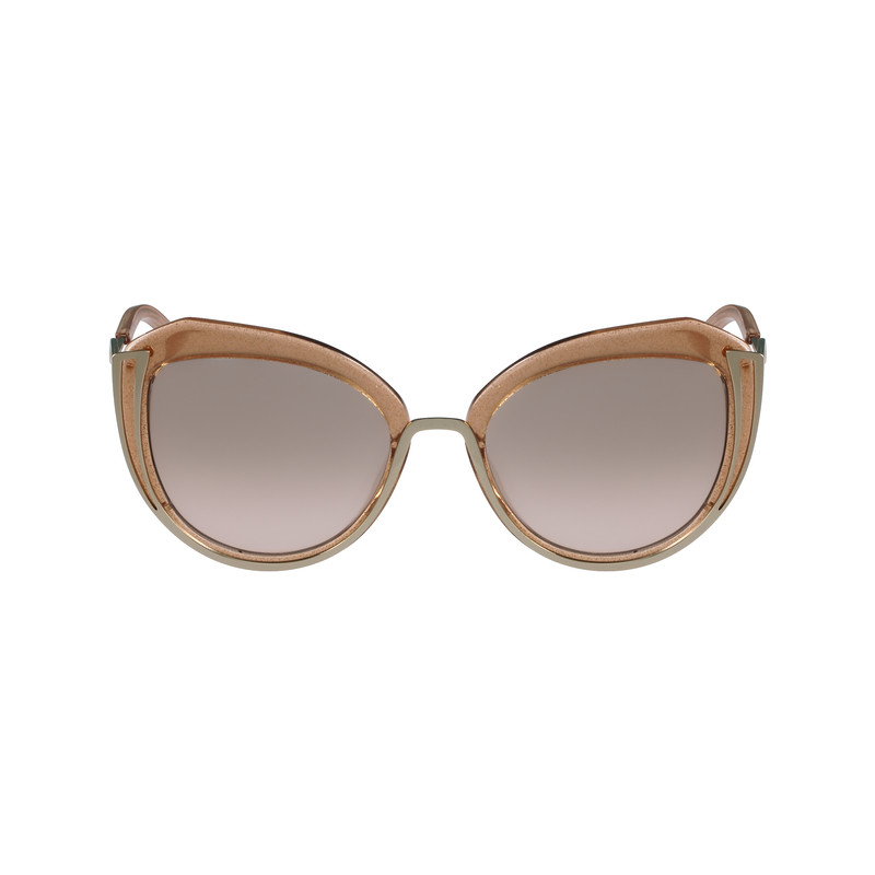 Karl Lagerfeld KL928S Shiny Gold-Grey Brown