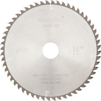 Metabo Zaagblad voor Hout 190x30x2,2mm 56T