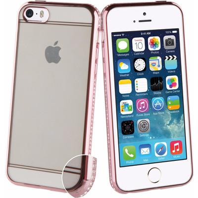 Muvit Contour Diamonds Apple iPhone 5/5s/SE Back Cover Roze
