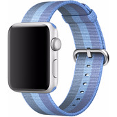 Apple Watch 42mm Nylon Woven Polsband Lichtblauw
