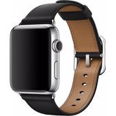 Apple Watch 42mm Klassiek Lederen Polsband Zwart