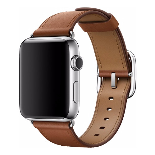 Apple Watch 42mm Klassiek Lederen Polsband Bruin