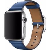 Apple Watch 42mm Klassiek Lederen Polsband Blauw
