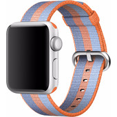 Apple Watch 38mm Nylon Woven Polsband Oranje