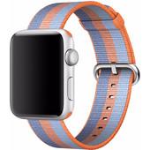 Apple Watch 42mm Nylon Woven Polsband Oranje