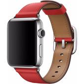 Apple Watch 42mm Klassiek Lederen Polsband Rood