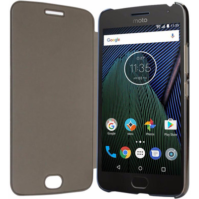 Motorola Moto G5 Plus View Cover Book Case Zwart