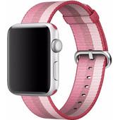 Apple Watch 42mm Nylon Woven Polsband Roze
