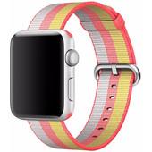 Apple Watch 42mm Nylon Woven Polsband Rood