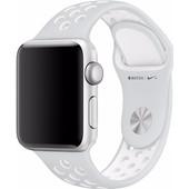 Apple Watch 38mm Polsband Nike Sport Platina/Wit