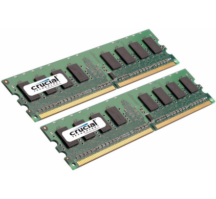 Crucial 4 GB DIMM DDR2-667 2 x 2 GB