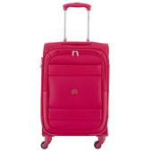 Delsey Indiscrete Soft 4 Wheel Slim Cabin Trolley 55cm Red