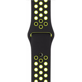 Apple Watch 42mm Polsband Nike Sport Zwart/Volt