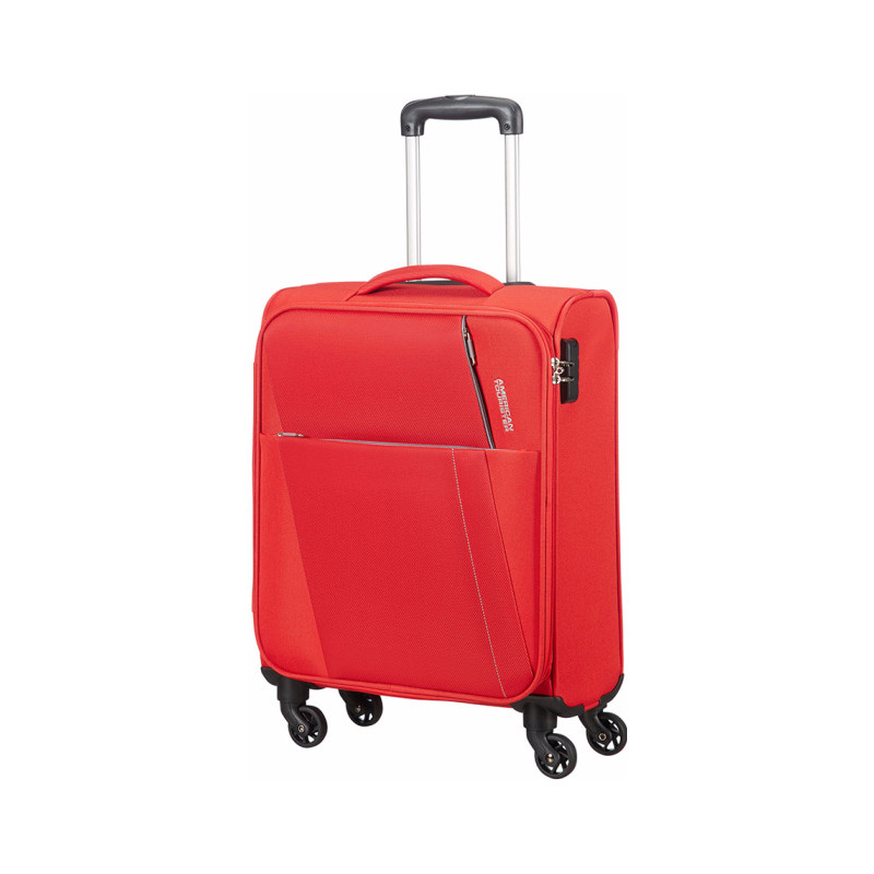 American Tourister Joyride Spinner 55 flame red Zachte koffer