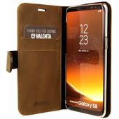 Valenta Classic Luxe Vintage Samsung Galaxy S8 Book Case Bruin