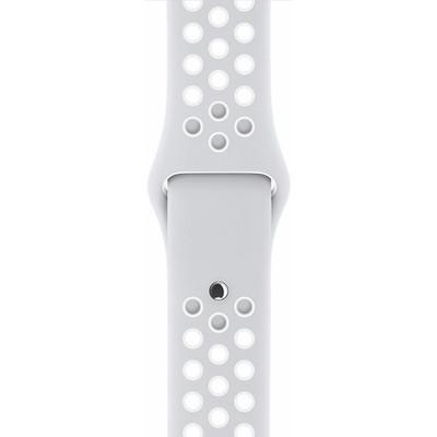 Apple Watch 42mm Polsband Nike Sport Platina/Wit