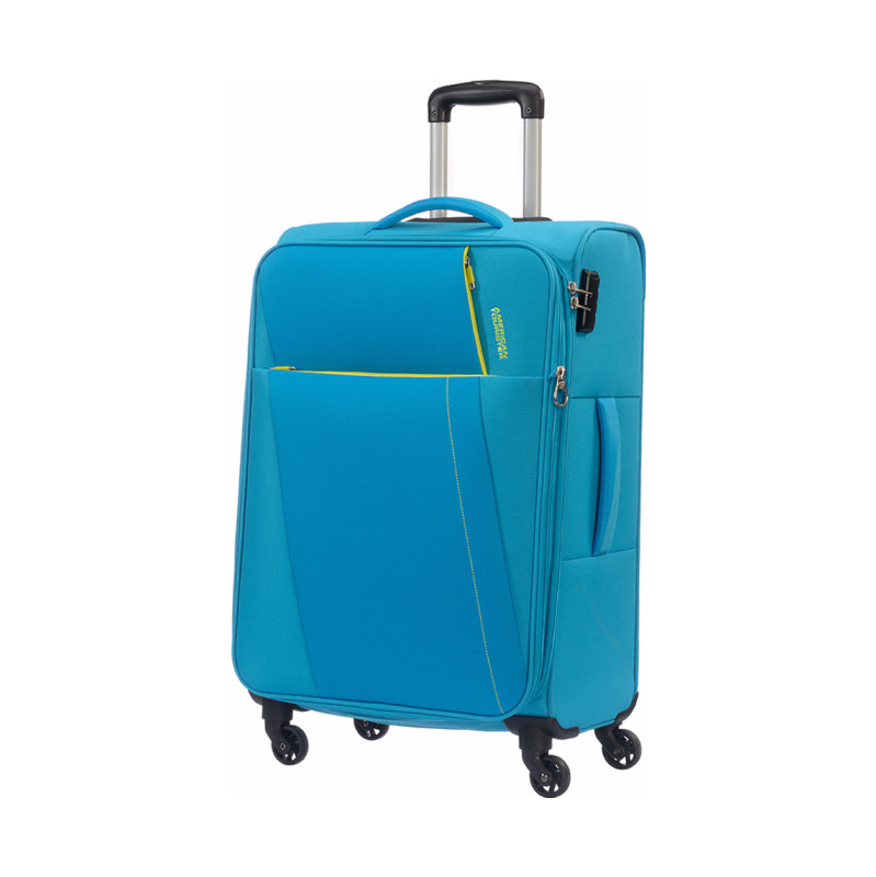 American Tourister Joyride Spinner 69 Expandable hawaii blue Zachte koffer