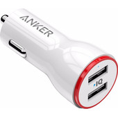 Anker Powerdrive Autolader Dual USB 4,8A Wit