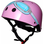 KiddiMoto Kinderhelm Goggle S Roze