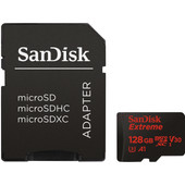 Sandisk MicroSDXC Extreme 128 GB 100MB/s CL10 + SD adapter