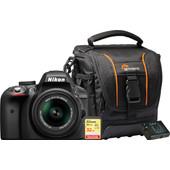 Starterskit - Nikon D3300 + 18-55mm + Geheugenkaart + Tas + Extra Accu