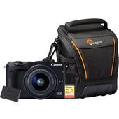 Starterskit - Canon EOS M3 + 15-45mm + Geheugenkaart + Tas + Extra Accu