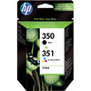 HP 350/351 Cartridge Zwart + Combo Pack 3-Kleuren (SD412EE)