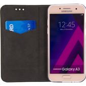 Mobilize Premium Gelly Samsung Galaxy A3 (2017) Book Case Zwart