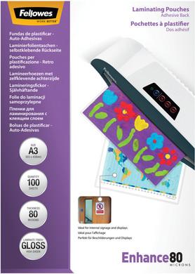 Fellowes Lamineerhoezen 80 micron A3 (100 stuks)