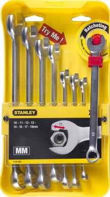Stanley Ringsteeksleutelset (met ratel) 4-95-660