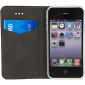 Mobilize Premium Gelly Apple iPhone 4/4S Book Case Zwart
