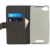 Mobilize Gelly Wallet Book Case Wiko Jerry Zwart