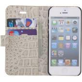 Guess Croco Apple iPhone 5/5s/SE Book Case Beige