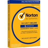Norton Security Deluxe 3.0 1 jaar abonnement
